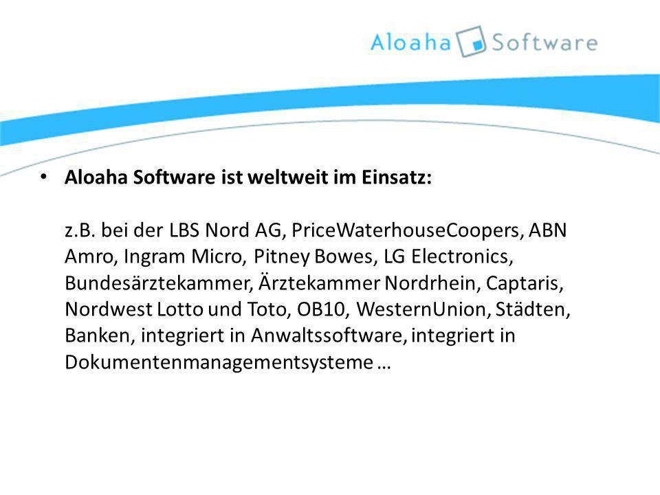 Aloaha Software ist weltweit im Einsatz: z.B.