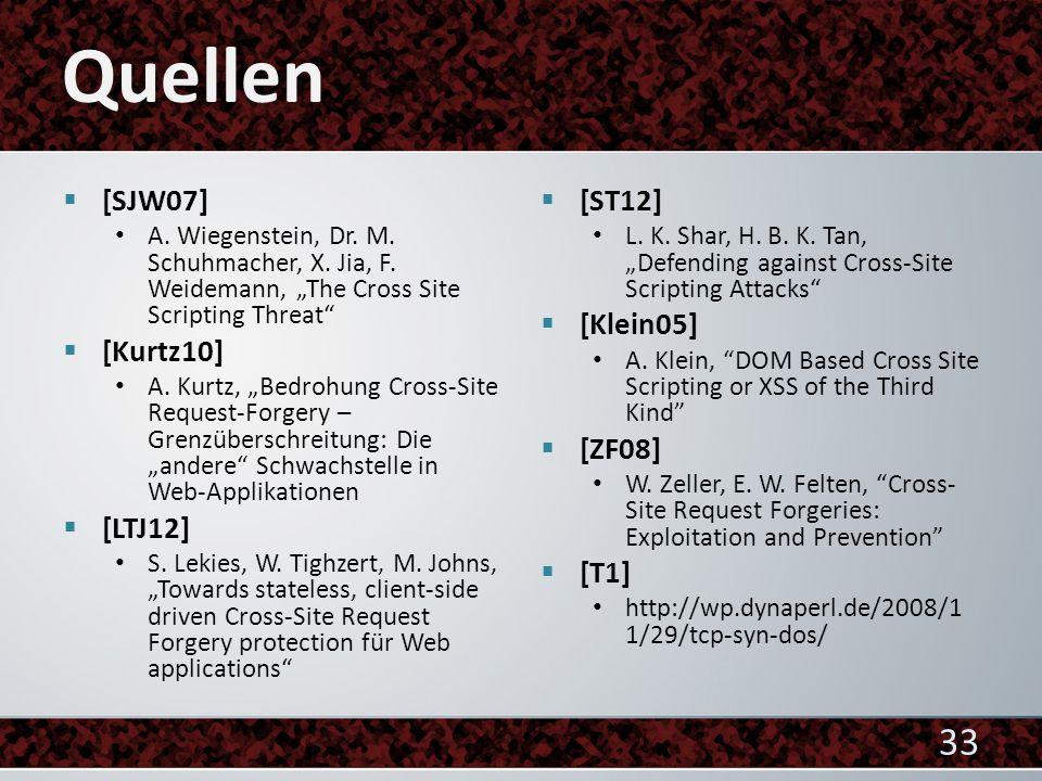  [SJW07] A. Wiegenstein, Dr. M. Schuhmacher, X.