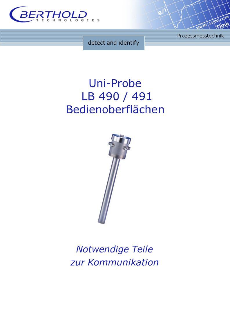 detect and identify Prozessmesstechnik Uni-Probe LB 490 / 491 Bedienoberflächen Notwendige Teile zur Kommunikation