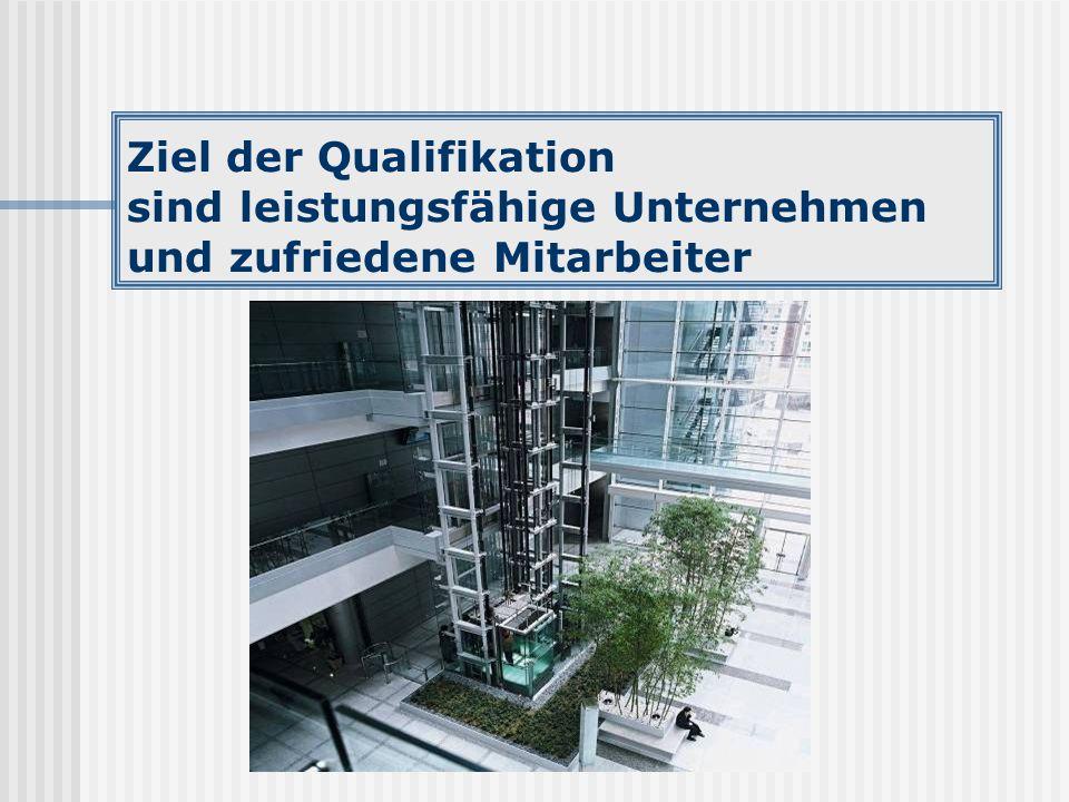 Ziel der Qualifikation sind leistungsfähige Unternehmen und zufriedene Mitarbeiter