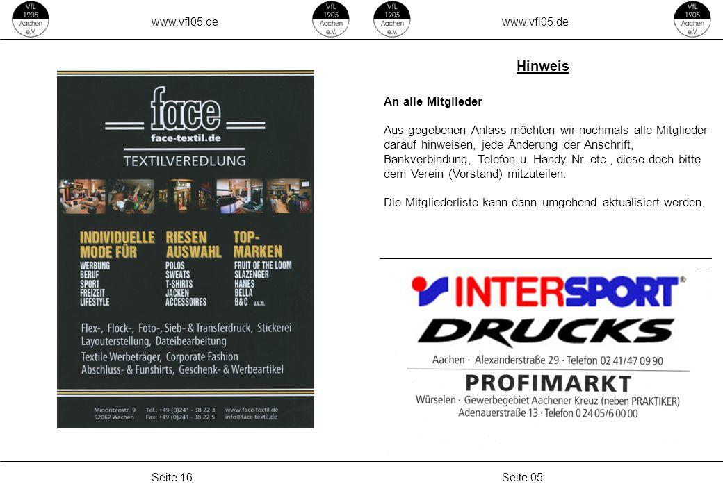 www.vfl05.de Seite 15Seite 06
