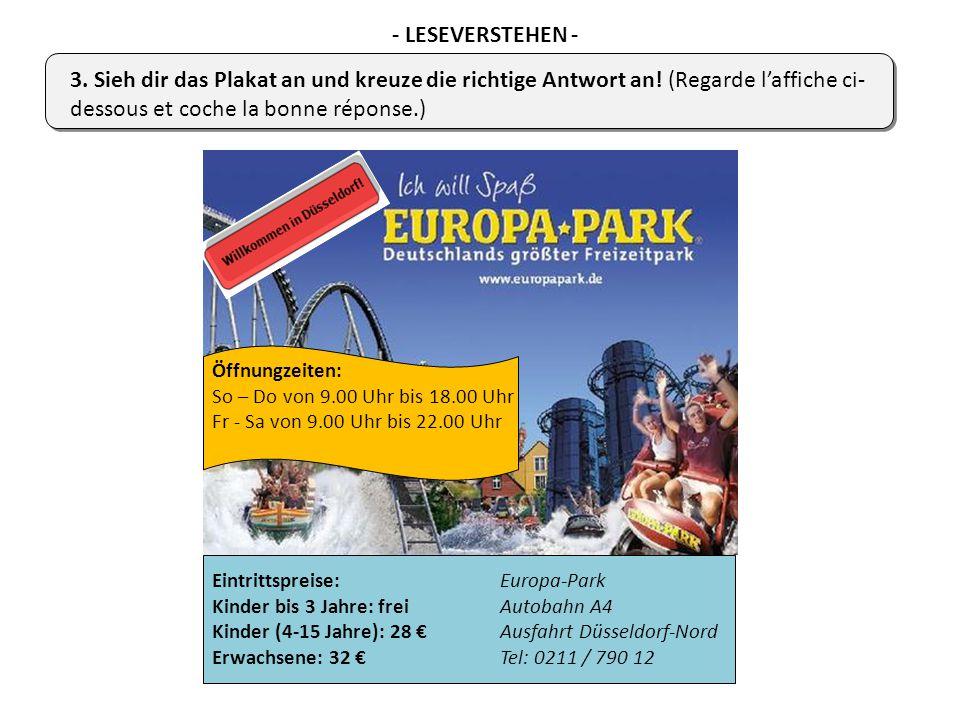 Öffnungzeiten: So – Do von 9.00 Uhr bis 18.00 Uhr Fr - Sa von 9.00 Uhr bis 22.00 Uhr Eintrittspreise:Europa-Park Kinder bis 3 Jahre: freiAutobahn A4 K