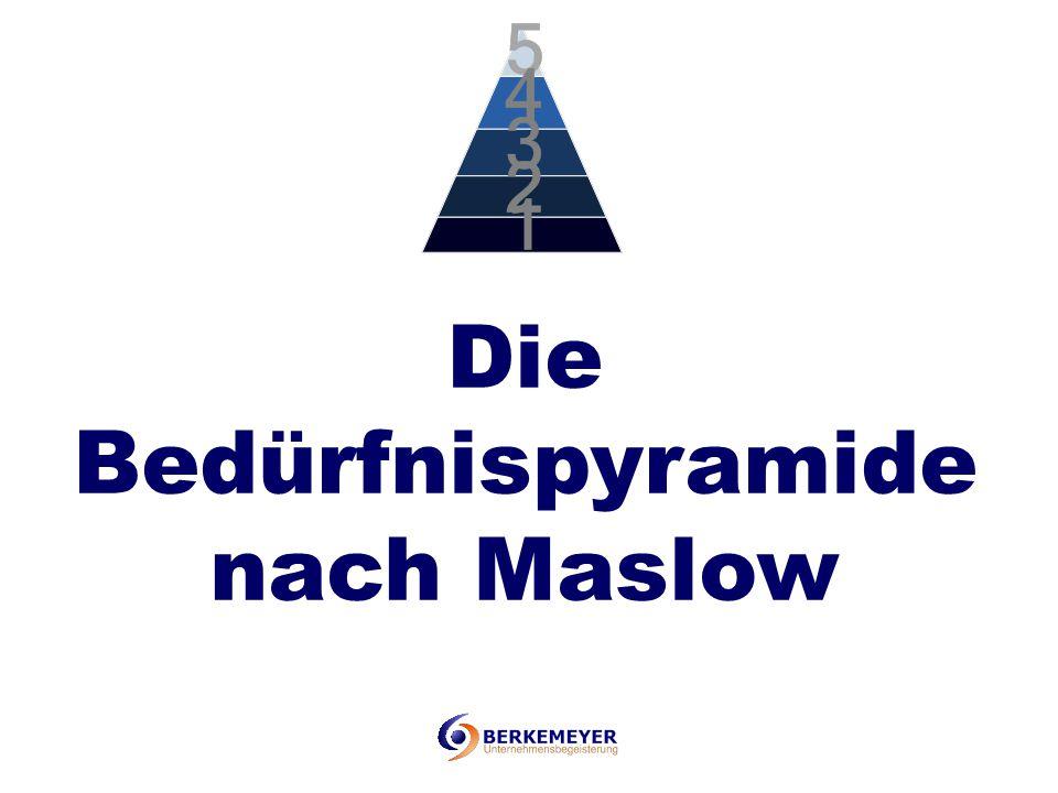 Die Bedürfnispyramide nach Maslow