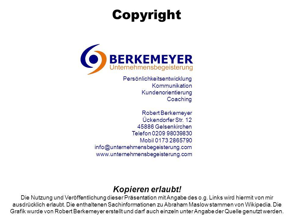 Copyright Kopieren erlaubt! Die Nutzung und Veröffentlichung dieser Präsentation mit Angabe des o.g. Links wird hiermit von mir ausdrücklich erlaubt.