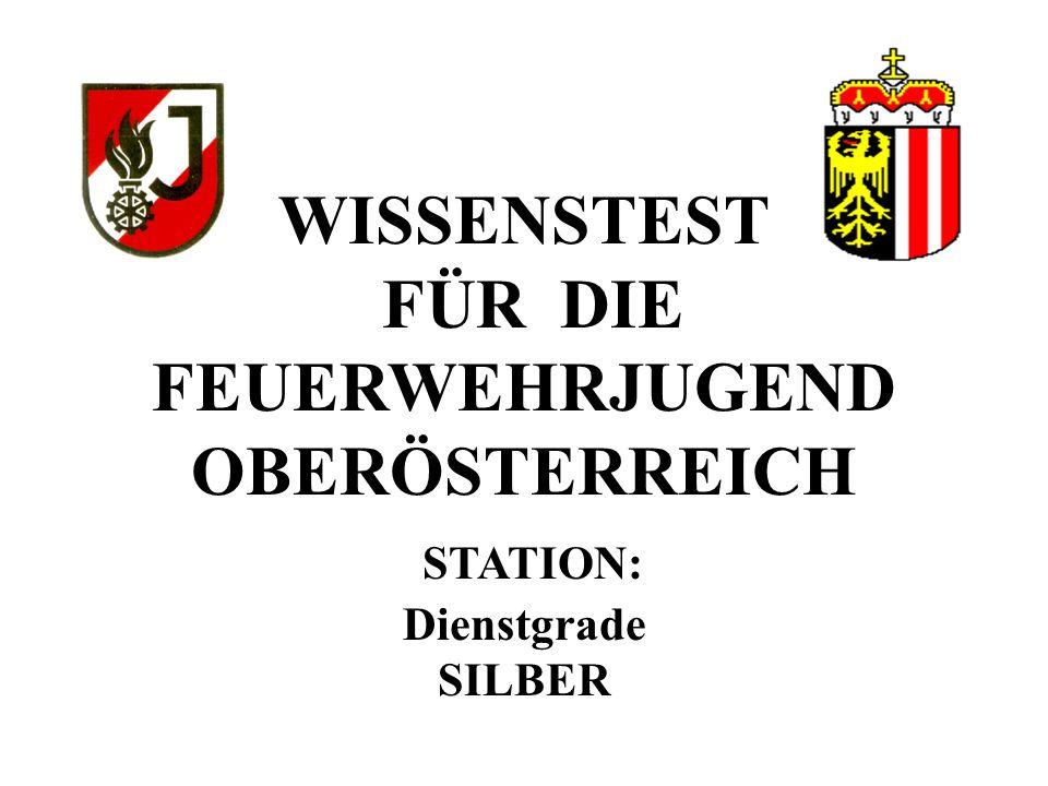 WISSENSTEST FÜR DIE FEUERWEHRJUGEND OBERÖSTERREICH STATION: Dienstgrade SILBER