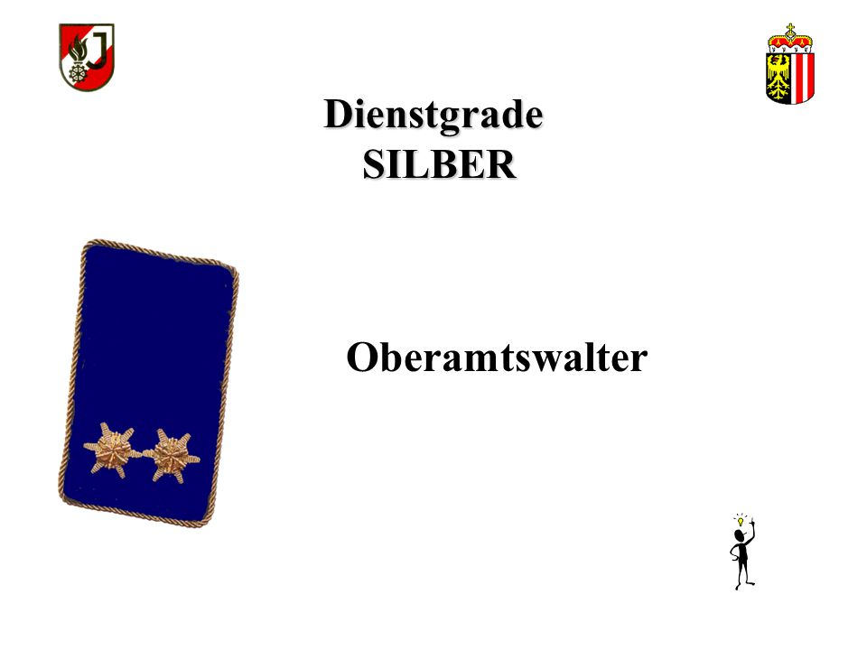 Dienstgrade SILBER Amtswalter