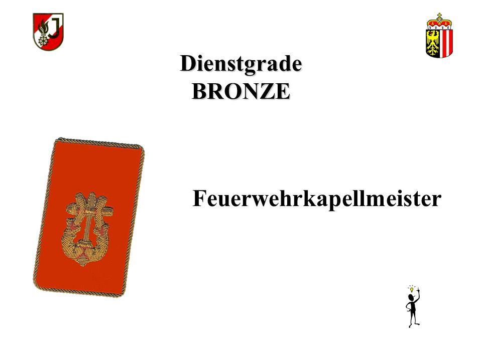 Dienstgrade BRONZE Feuerwehrkapellmeister