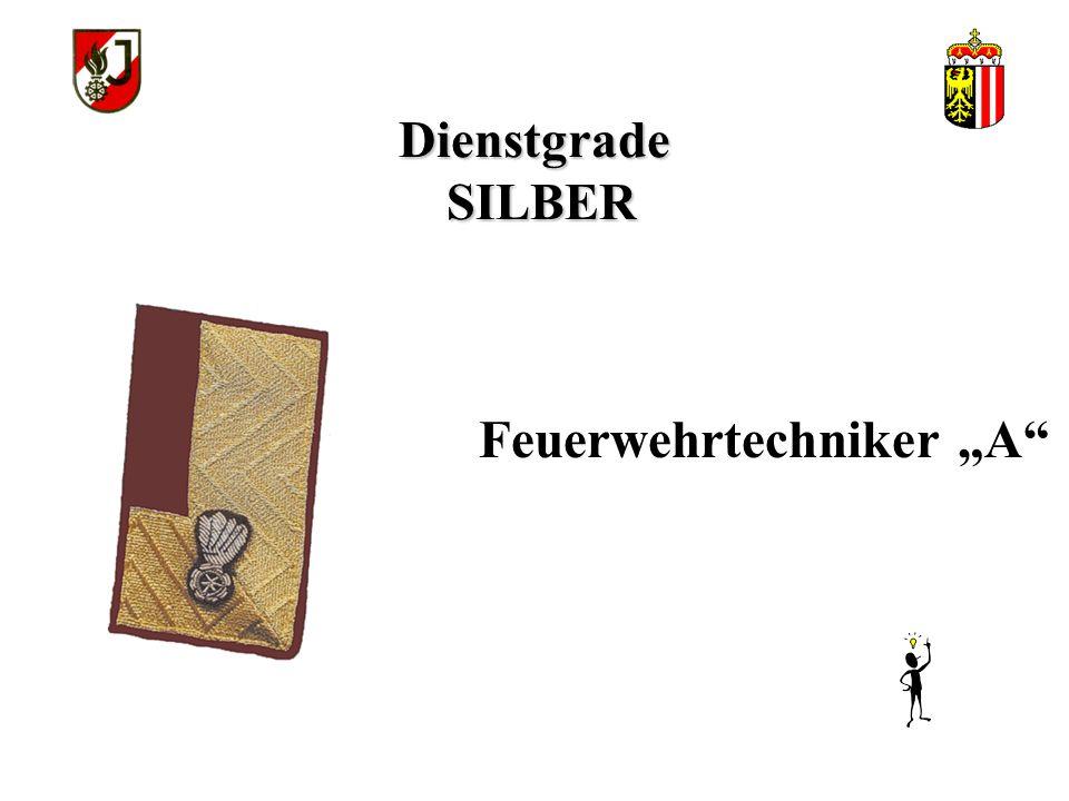 """Dienstgrade SILBER Feuerwehrtechniker """"A"""