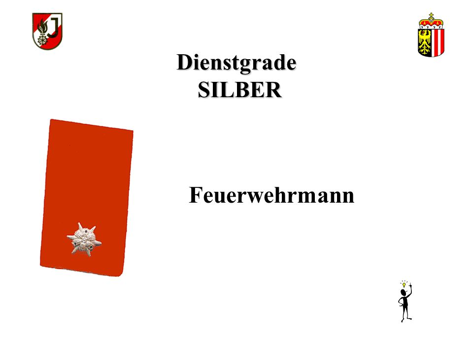 Dienstgrade SILBER Feuerwehrmann