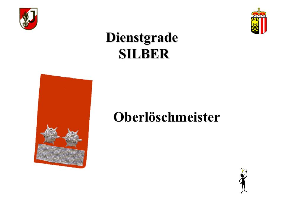 Dienstgrade SILBER Oberlöschmeister