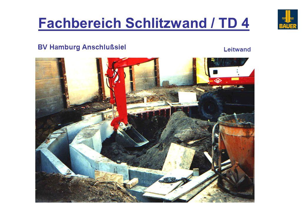 Fachbereich Schlitzwand / TD 4 Leitwand BV Hamburg Anschlußsiel