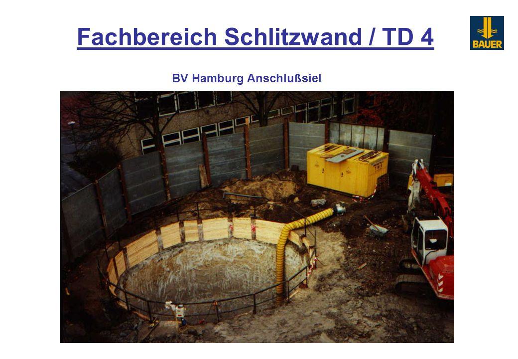 Fachbereich Schlitzwand / TD 4 BV Hamburg Anschlußsiel