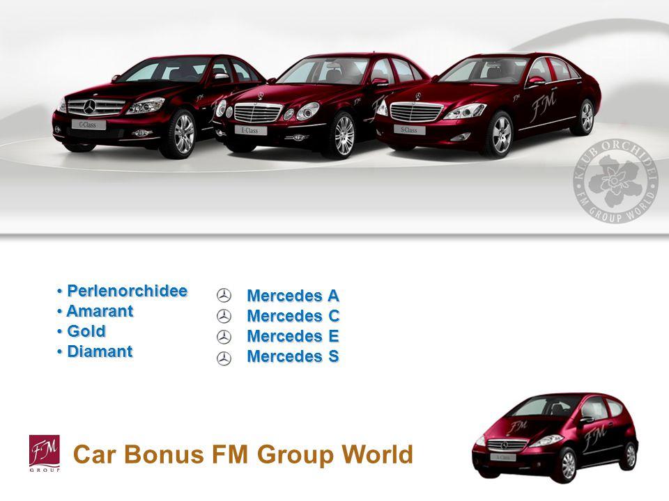 Car Bonus FM Group World Perlenorchidee Perlenorchidee Amarant Amarant Gold Gold Diamant Diamant Mercedes A Mercedes C Mercedes E Mercedes S