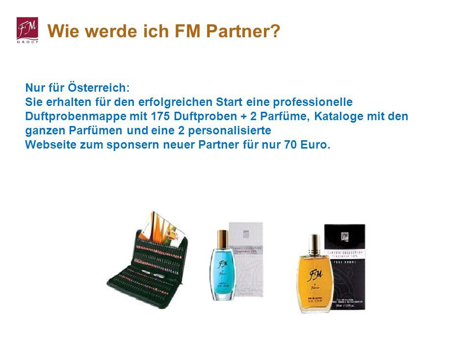 Nur für Österreich: Sie erhalten für den erfolgreichen Start eine professionelle Duftprobenmappe mit 175 Duftproben + 2 Parfüme, Kataloge mit den ganz