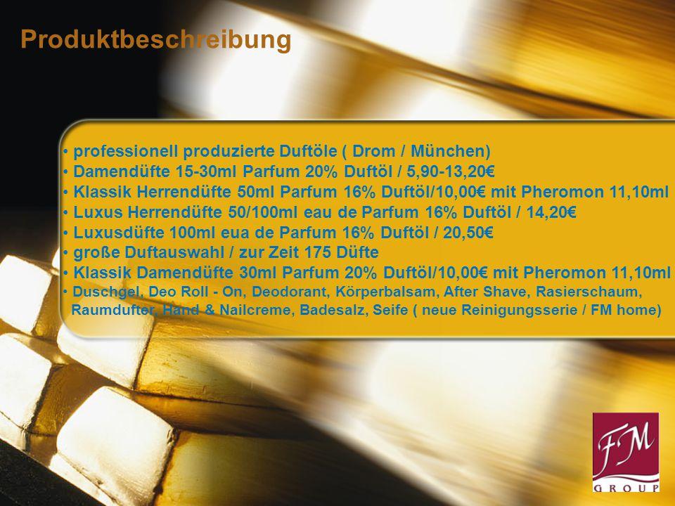 Sie verkaufen 3 Parfum am Tag = in Monat 90 Parfum: Kundenpreis: 20,50 x3x30 = 1.845,00 € Beraterpreis: 14,20 x3x30 = 1.278,00 € Ihre Gewinnspanne: = 567,00 € Bonus FM 9% = 92,30 € Ihr Verdienst: = 1.085,30 Euro Bonusstaffel: Parfum 14,20 Euro 1Parfum EK 14,20 Euro = 40,00 Punkte 300P 3% 8 Parfums 1200P 6% 30 Parfums 3600P 9% 90 Parfums 7200P 12% 180 Parfums 12000P 15% 300 Parfums 20400P 18% 510 Parfums 30000P 21% 750 Parfums Direkter Verdienst
