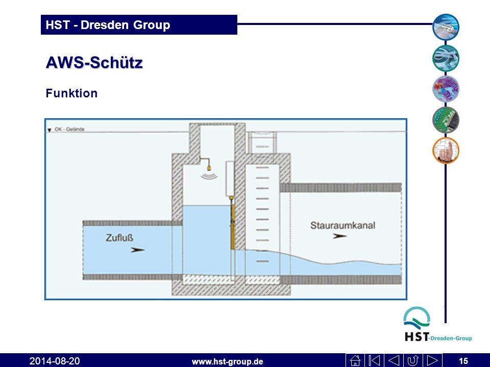 www.hst-group.de HST - Dresden Group AWS-Schütz 15 2014-08-20 Funktion
