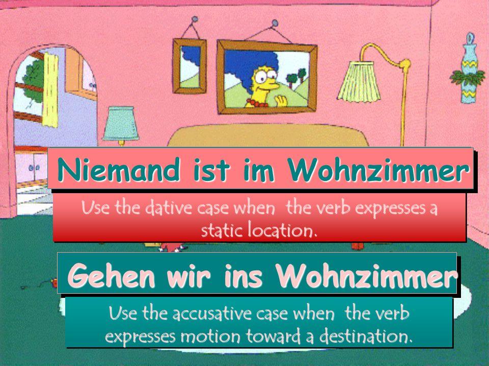 Akkusativ (destination) oder Dativ (location).1.Die Büste von Mozart steht auf _____ Tisch (m.).