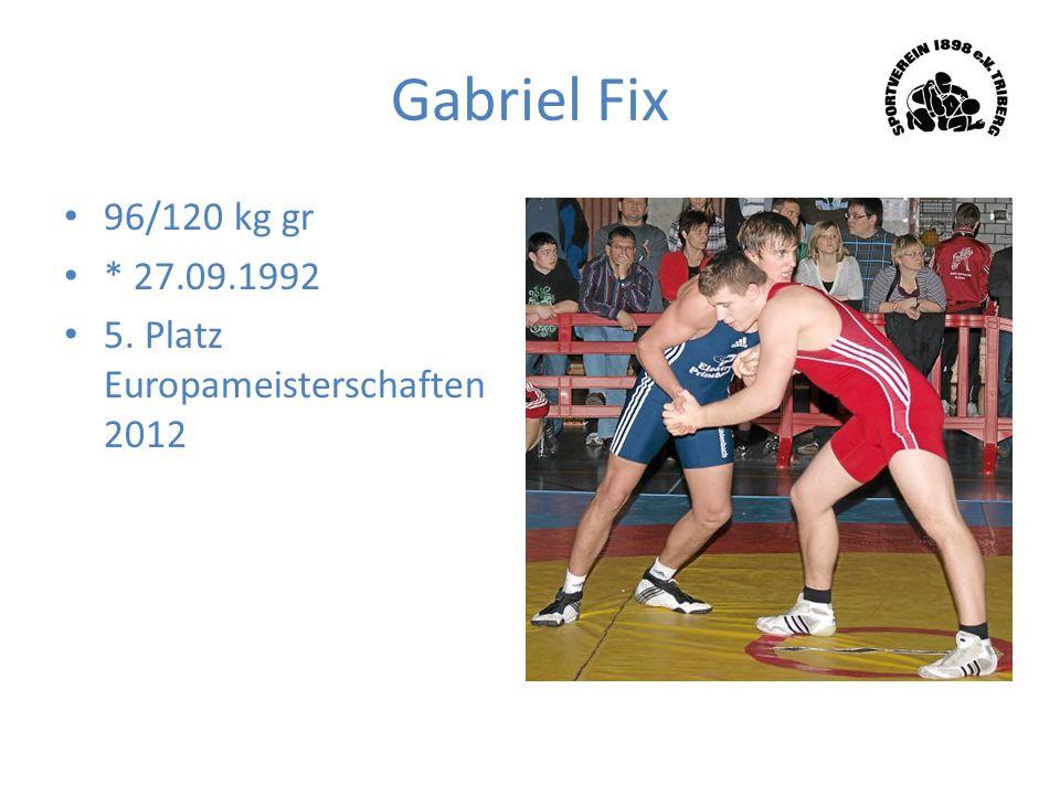Gabriel Fix 96/120 kg gr * 27.09.1992 5. Platz Europameisterschaften 2012