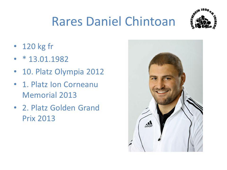 Rares Daniel Chintoan 120 kg fr * 13.01.1982 10. Platz Olympia 2012 1. Platz Ion Corneanu Memorial 2013 2. Platz Golden Grand Prix 2013