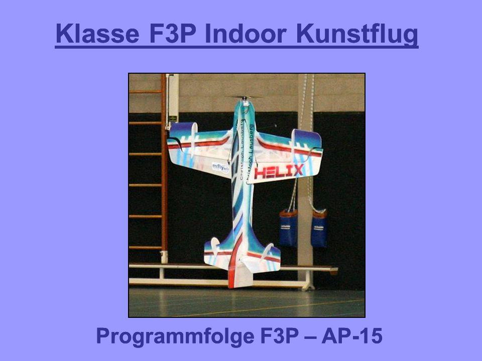 F3P-AP-15.06.01 F3P-AP-15.06: Turn mit zwei 1/2 Rollen in entgegengesetzter Richtung aufwärts, 1/2 Rolle abwärts ½ Rolle Stopp vor dem Drehen Drehen um den Schwerpunkt Zwei Flügelspannweiten oder mehr – null Punkte.