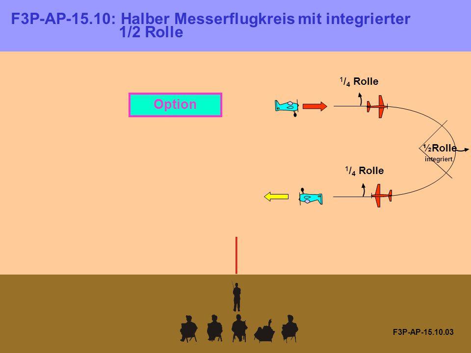 F3P-AP-15.10.03 1 / 4 Rolle ½Rolle integriert 1 / 4 Rolle Option F3P-AP-15.10: Halber Messerflugkreis mit integrierter 1/2 Rolle
