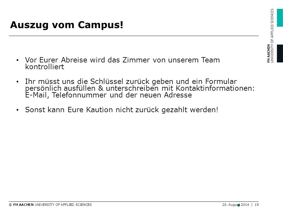© FH AACHEN UNIVERSITY OF APPLIED SCIENCES20.