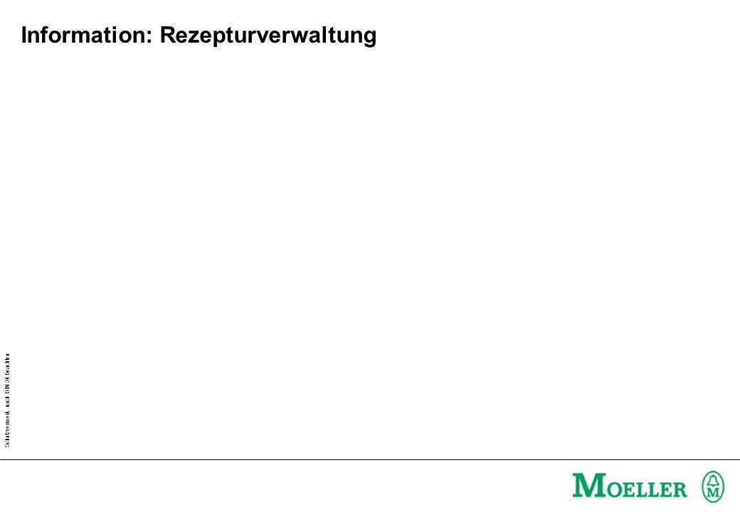 Schutzvermerk nach DIN 34 beachten Information: Rezepturverwaltung