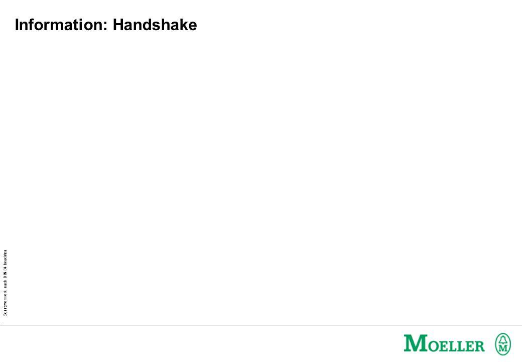 Schutzvermerk nach DIN 34 beachten Information: Handshake