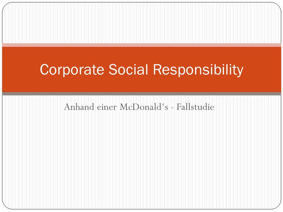 The Marketing Report Customer Perspective Gruppe J CSR – McDonald's Austria 11 Frage an Kunden: Was sind die Gründe für Social Responsibility von McDonald´s Österreich.