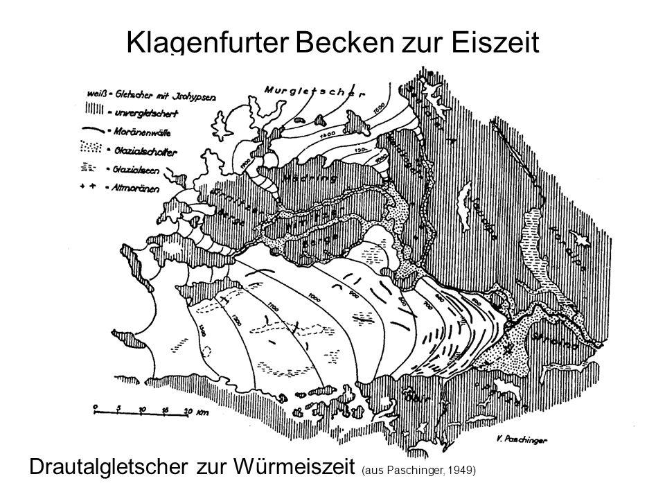 Wörtherseeausdehnung & Klagenfurter Sumpf (Karte aus www.kagis.ktn.gv.at) Nieder- moor Glan- Schwemm kegel Brauner Auboden Grauer Auboden Anmoor ehem.