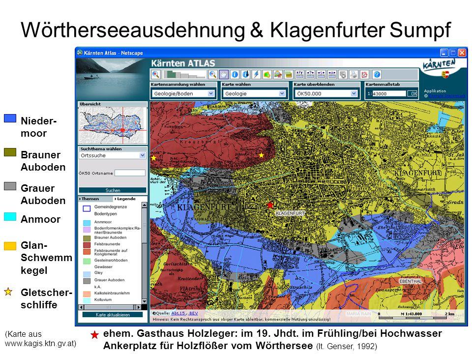 """""""Sieben Hügel als Inseln im Klagenfurter Sumpf (Karte aus www.kagis.ktn.gv.at) St."""
