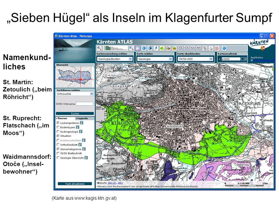 Klagenfurter Sumpf noch bis ins 20.Jhdt.