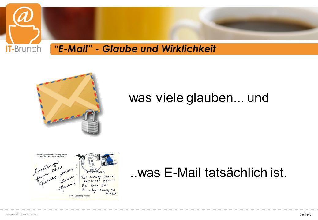 www.it-brunch.net Seite 3 E-Mail - Glaube und Wirklichkeit was viele glauben...