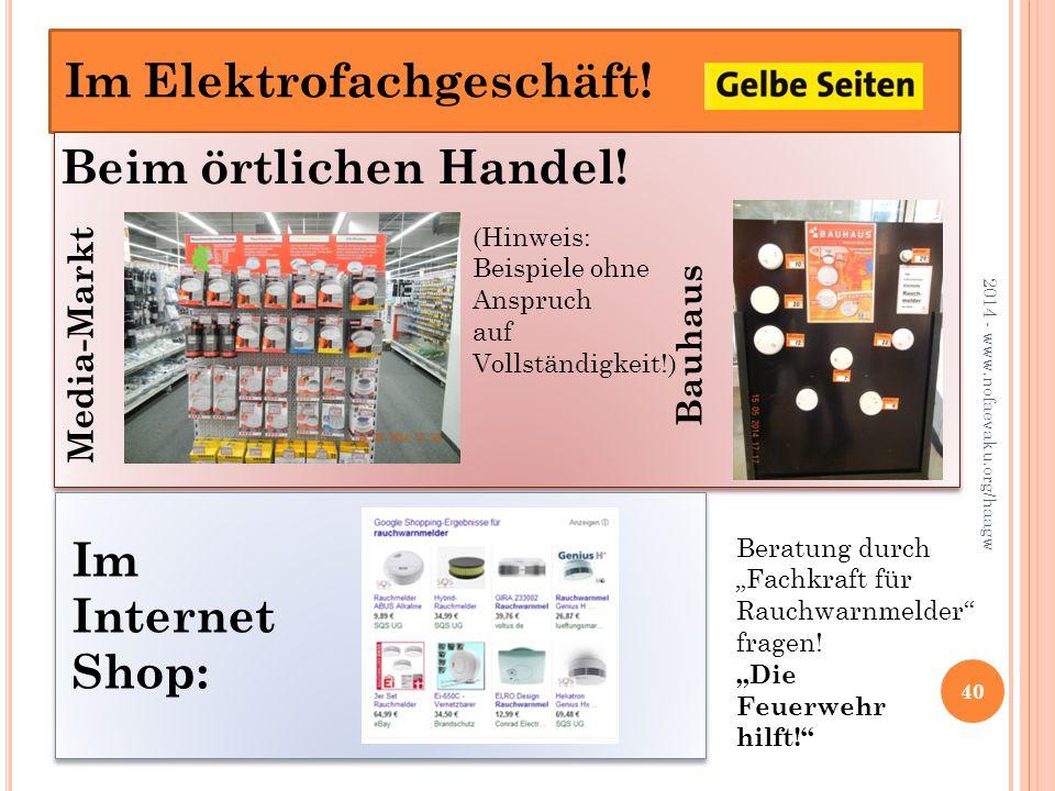 2014 - www.nofaevaku.org/haagw 40 Beim örtlichen Handel.