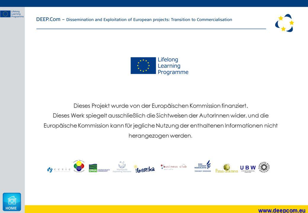 Dieses Projekt wurde von der Europäischen Kommission finanziert. Dieses Werk spiegelt ausschließlich die Sichtweisen der AutorInnen wider, und die Eur