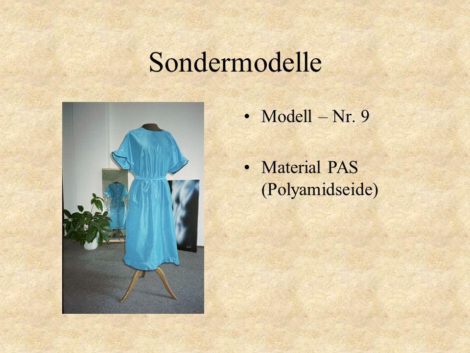 Sondermodelle Modell – Nr. 8 Material PAS (Polyamidseide)