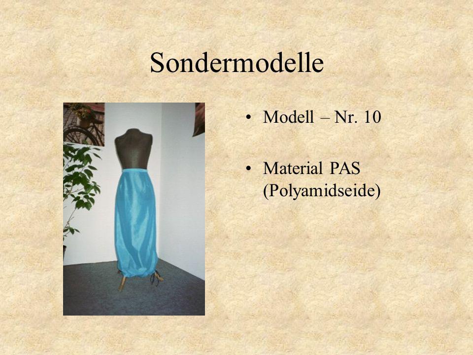 Sondermodelle Modell – Nr. 9 Material PAS (Polyamidseide)