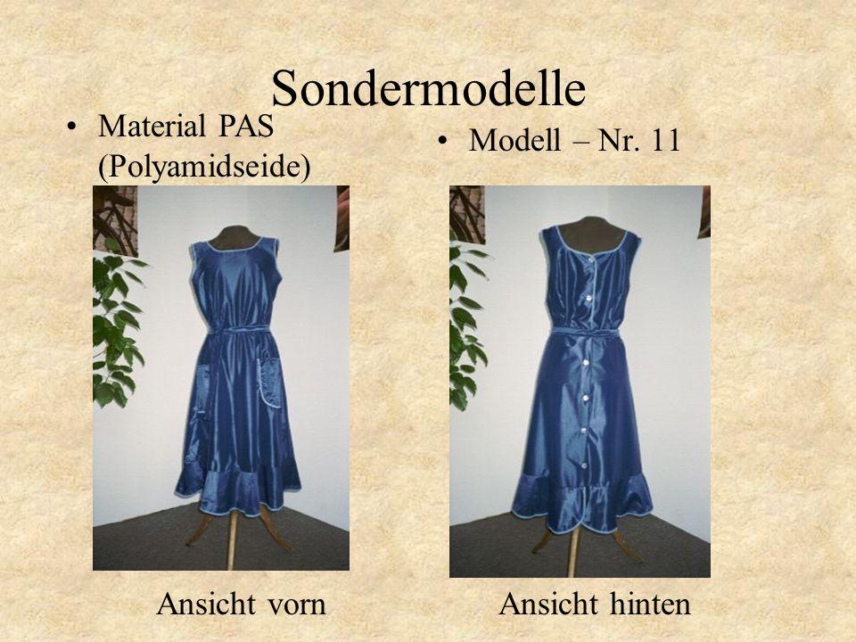Sondermodelle Modell – Nr. 10 Material PAS (Polyamidseide)