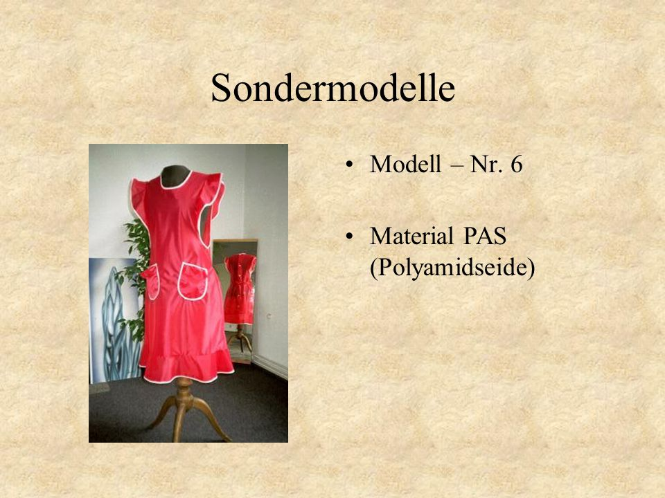 Sondermodelle Modell – Nr. 5 Material PAS (Polyamidseide)