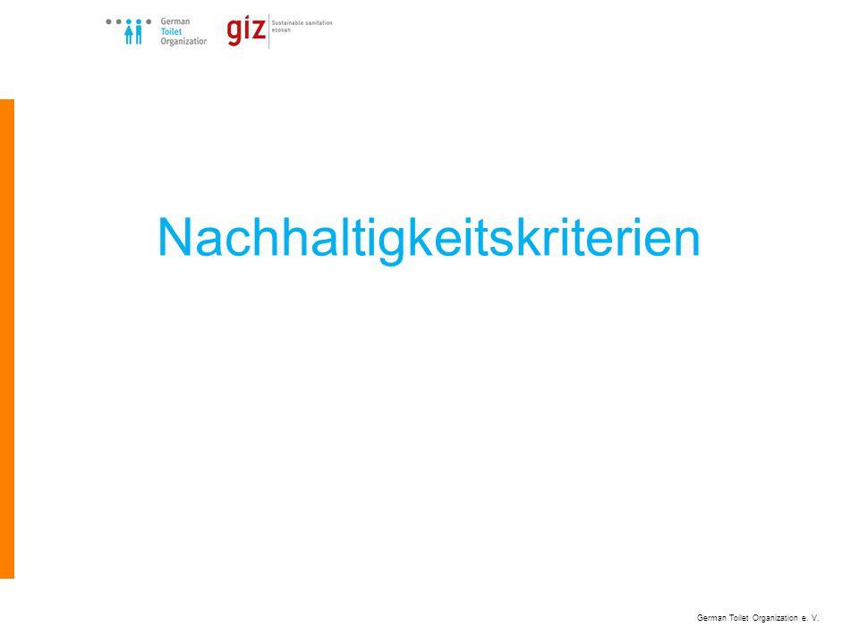 German Toilet Organization e. V. Nachhaltigkeitskriterien
