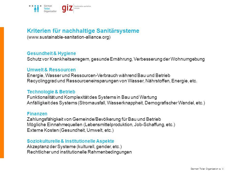 German Toilet Organization e. V. Schrittweise Planungs- und Umsetzungsabfolge