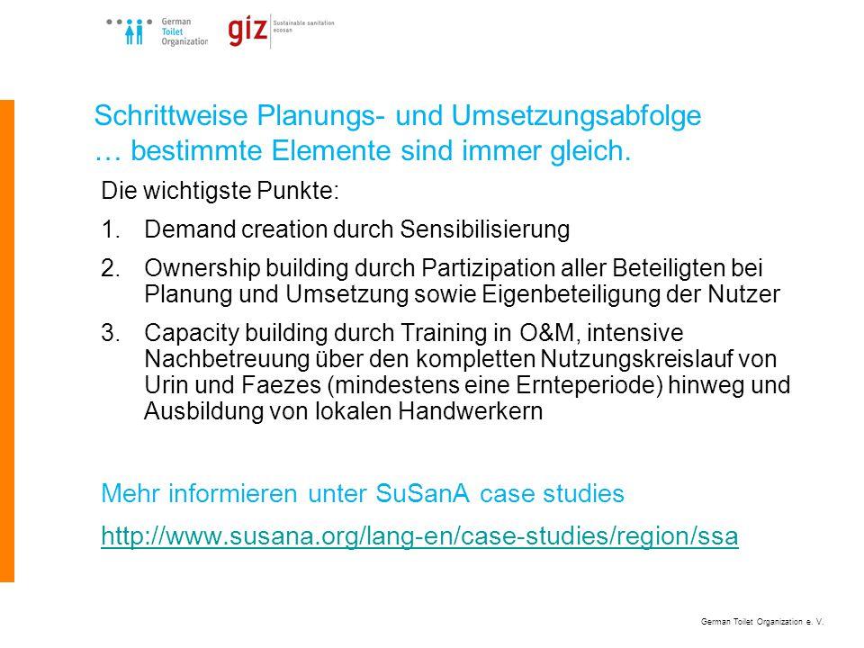 German Toilet Organization e. V. Aktive Partizipation – wie schaffen wir das? Quelle: unbekannt