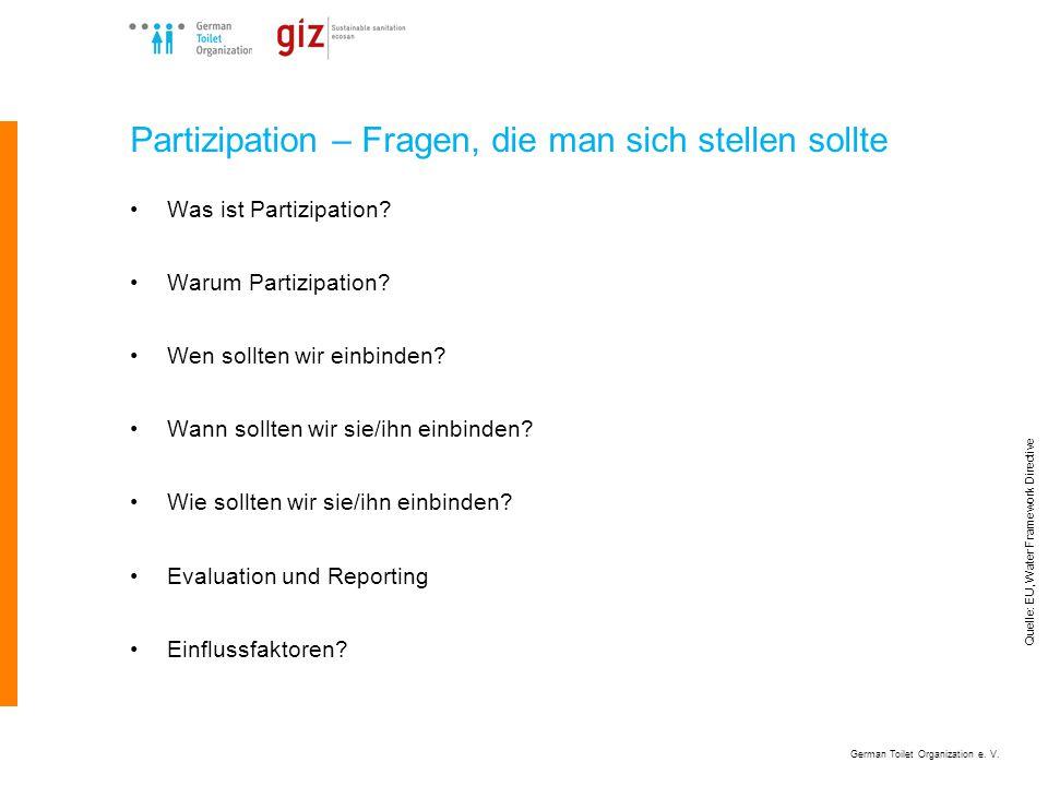 German Toilet Organization e. V. Wer sind die Stakeholder?