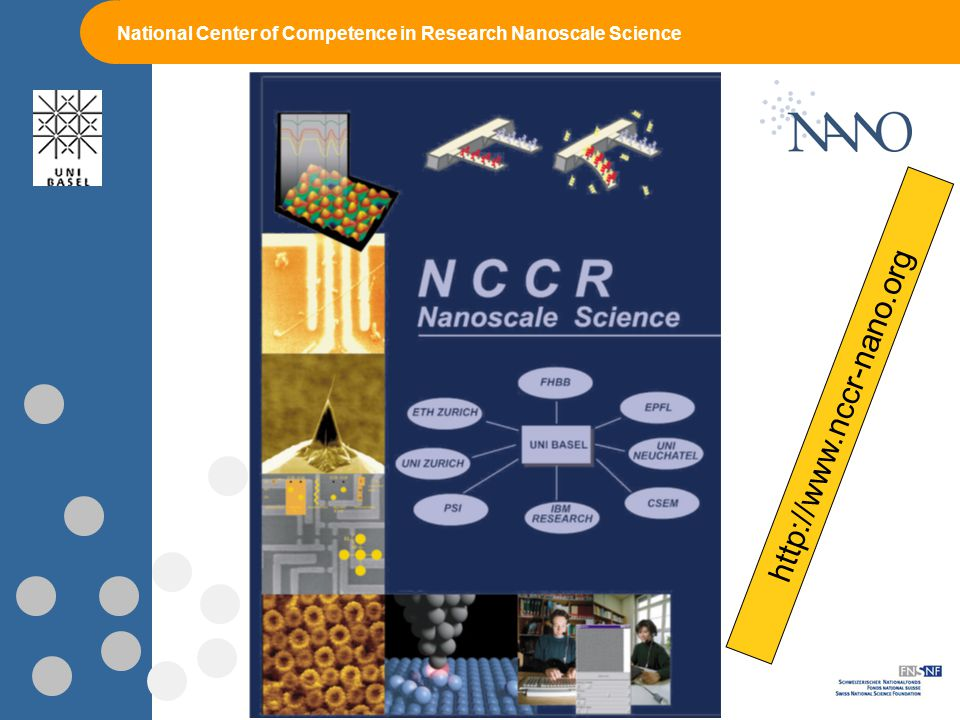 National Center of Competence in Research Nanoscale Science http://www.nccr-nano.org