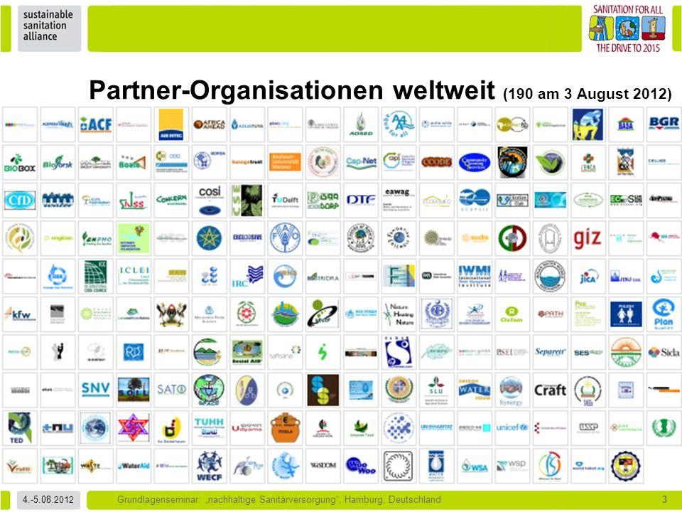 """4.-5.08. 2012 Grundlagenseminar: """"nachhaltige Sanitärversorgung"""", Hamburg, Deutschland3 Partner-Organisationen weltweit (190 am 3 August 2012)"""