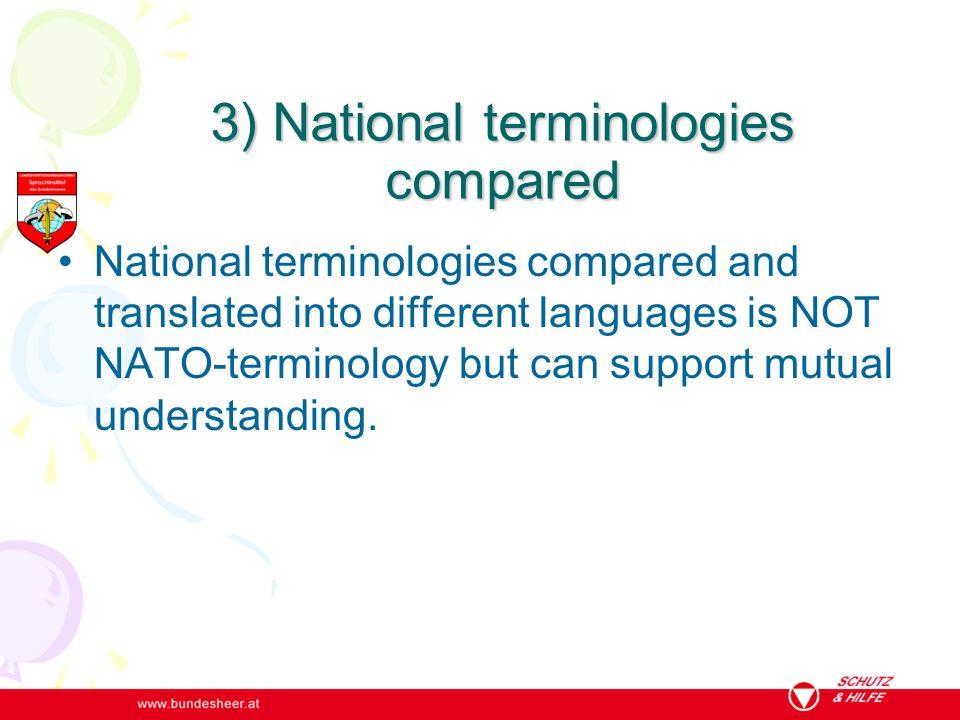 1) Maintenance of the source language term e.g.