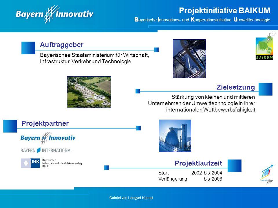 Gabriel von Lengyel-Konopi Auftraggeber Bayerisches Staatsministerium für Wirtschaft, Infrastruktur, Verkehr und Technologie Projektlaufzeit Projektpa