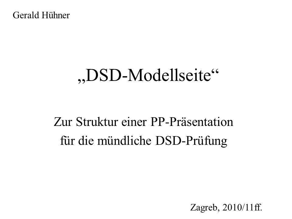 Zur Struktur einer Präsentation: 1.Titelseite 2. Überblick über die gesamte Präsentation 3.