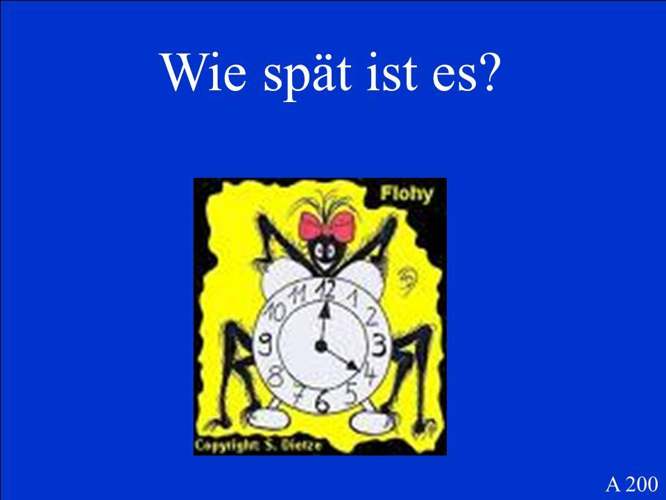 Begin with a word other than the subject and make a statement, not a question: halb / Rockkonzert / beginnt / acht / um / das C 200