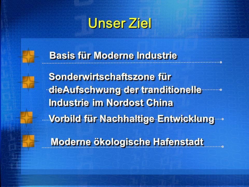 Unser Ziel Vorbild für Nachhaltige Entwicklung Basis für Moderne Industrie Basis für Moderne Industrie Sonderwirtschaftszone für dieAufschwung der tra